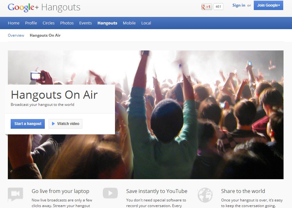 Top 5 Reasons to Use Google+ Hangouts On Air