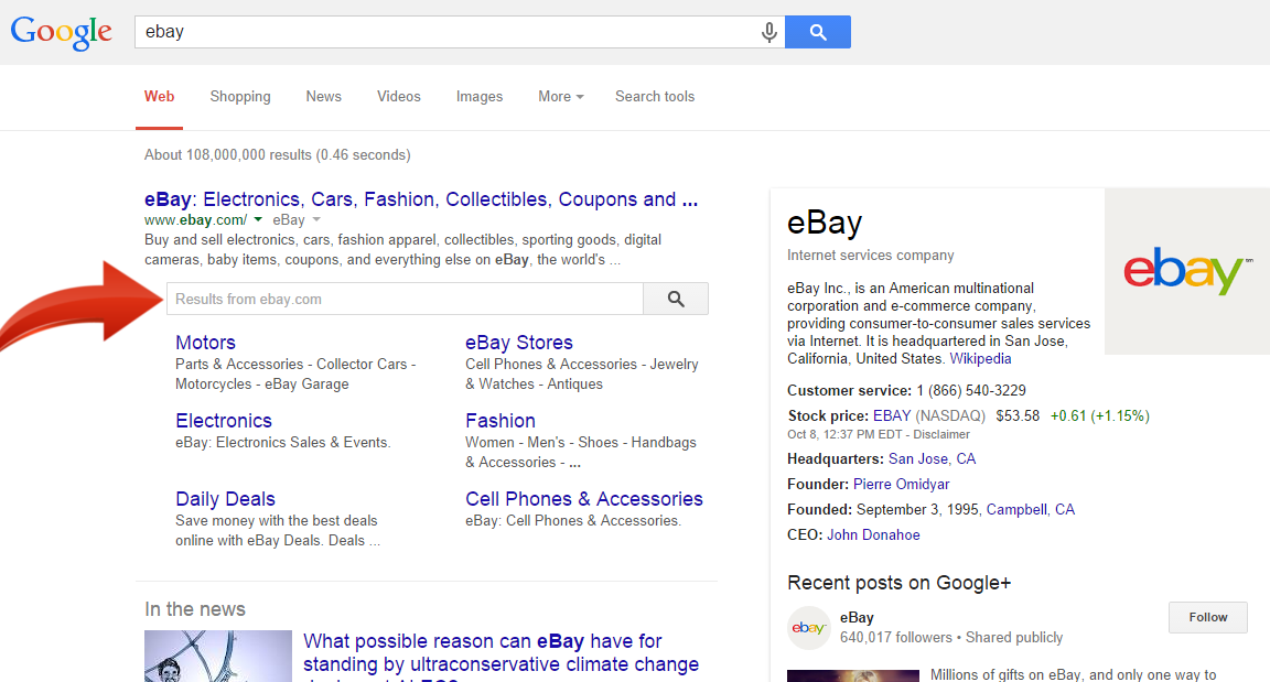 Get Google to Display A Search Box on your Site Search Results